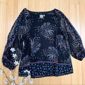 Anthropologie One September open sleeve blouse, MP